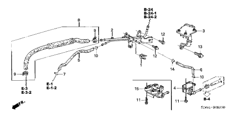 2004 accord EX 4 DOOR 5MT INSTALL PIPE - TUBING (L4) diagram