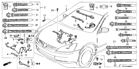 2004 accord LX 4 DOOR 5MT ENGINE WIRE HARNESS (L4) diagram