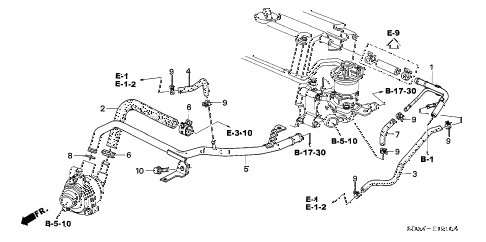 2004 accord EXL(NAVI) 4 DOOR 5MT WATER HOSE (L4) diagram