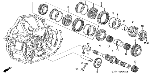 2005 accord EXL(NAVI) 4 DOOR 5MT MT MAINSHAFT (L4) (KA) diagram