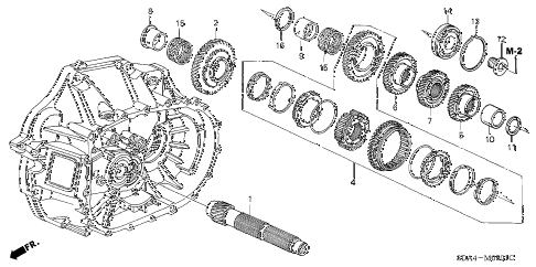 2005 accord EX 4 DOOR 5MT MT COUNTERSHAFT (L4) (KA) diagram
