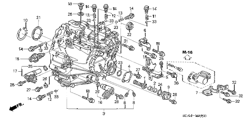 2006 accord EX(V6 NAVI) 4 DOOR 6MT MT TRANSMISSION CASE (V6) diagram
