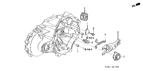 2006 accord EX(V6 NAVI) 4 DOOR 6MT MT CLUTCH RELEASE (V6) diagram