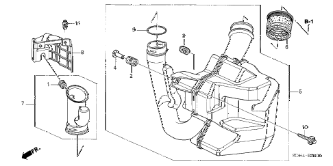 2006 accord LX 2 DOOR 5MT RESONATOR CHAMBER (L4) diagram