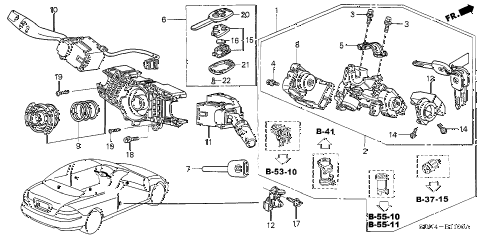 2006 accord LX 2 DOOR 5MT COMBINATION SWITCH diagram