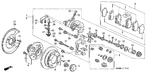 2004 accord EX(V6 NAVI) 2 DOOR 6MT REAR BRAKE (DISK) diagram