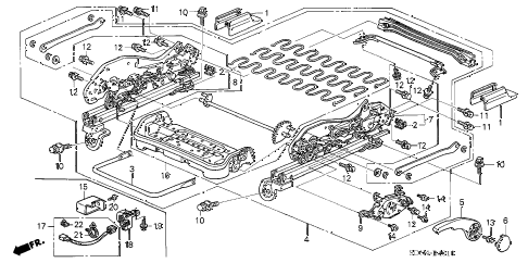 2006 accord LX 2 DOOR 5MT FRONT SEAT COMPONENTS (L.) (MANUAL HEIGHT) diagram