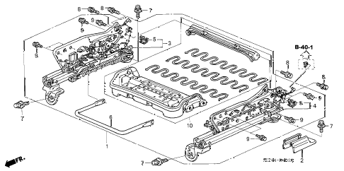 2003 accord EXL 2 DOOR 5MT FRONT SEAT COMPONENTS (R.) (1) diagram