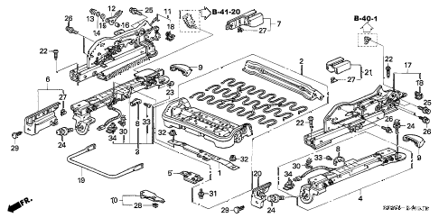 2004 accord EX(V6) 2 DOOR 6MT FRONT SEAT COMPONENTS (R.) (2) diagram