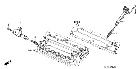 2004 accord EX(V6 NAVI) 2 DOOR 6MT IGNITION COIL (V6) diagram
