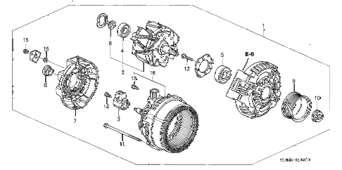 2006 accord LX 2 DOOR 5MT ALTERNATOR (DENSO) (L4) diagram