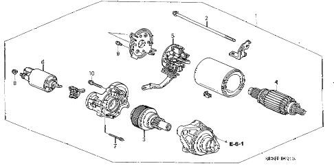 2004 accord EX(V6 NAVI) 2 DOOR 6MT STARTER MOTOR (MITSUBA) (V6) diagram