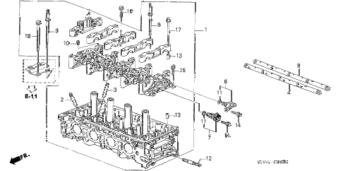 2003 accord EXL 2 DOOR 5MT CYLINDER HEAD (L4) diagram