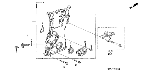2004 accord EX(SIDE CURTAIN) 2 DOOR 5MT CHAIN CASE (L4) diagram