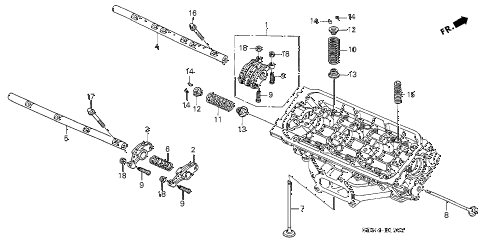 2003 accord EX(V6 NAVI) 2 DOOR 6MT VALVE - ROCKER ARM (RR.) (V6) diagram
