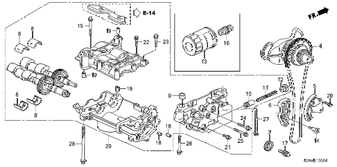 2006 accord LX 2 DOOR 5MT OIL PUMP (L4) diagram