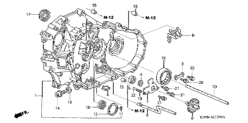 2004 accord EX(V6) 2 DOOR 6MT MT CLUTCH CASE (V6) diagram