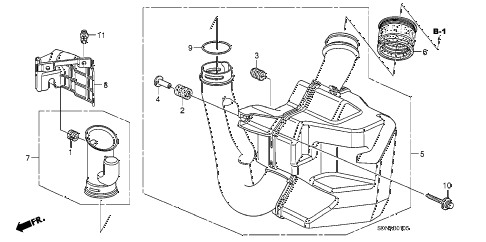 2007 accord EX 2 DOOR 5MT RESONATOR CHAMBER (L4) diagram
