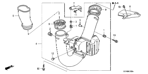 2007 accord EXV6 2 DOOR 6MT RESONATOR CHAMBER (V6) diagram
