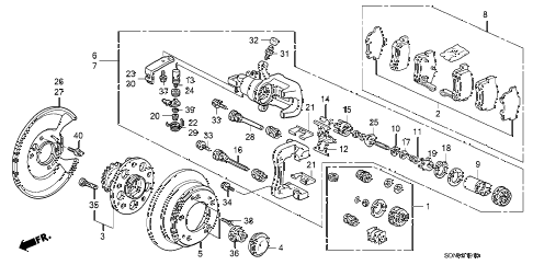 2007 accord EXL(NAVI) 2 DOOR 5MT REAR BRAKE (DISK) diagram