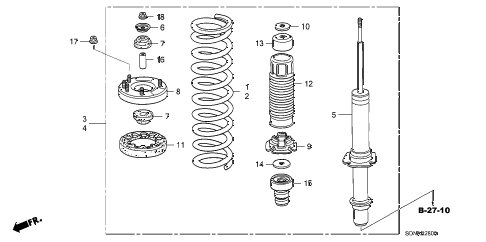 2007 accord EXV6 2 DOOR 6MT FRONT SHOCK ABSORBER diagram