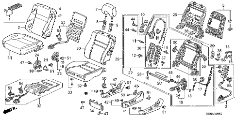 2007 accord EX 2 DOOR 5MT FRONT SEAT (L.) diagram