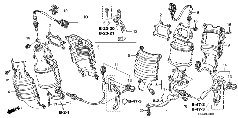 2007 accord EXV6(NAVI) 2 DOOR 6MT CONVERTER (V6) diagram