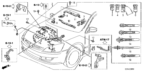 2007 accord EXV6 2 DOOR 6MT ENGINE WIRE HARNESS (V6) diagram