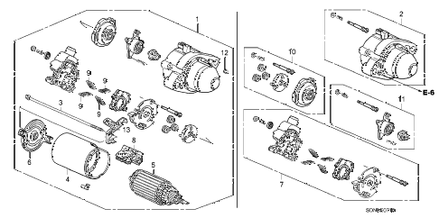 2007 accord EX 2 DOOR 5MT STARTER MOTOR (MITSUBA) (L4) diagram