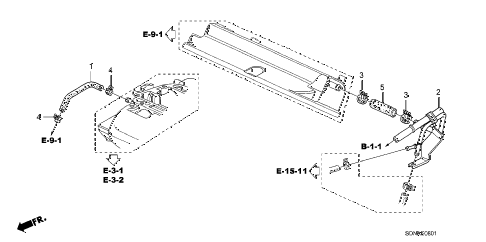 2007 accord EXV6 2 DOOR 6MT BREATHER TUBE (V6) diagram