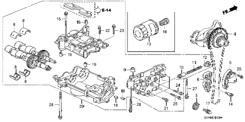 2007 accord LX 2 DOOR 5MT OIL PUMP (L4) diagram