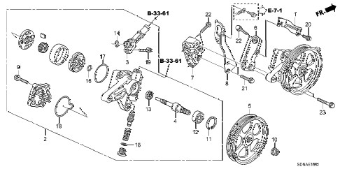 2007 accord EXV6 2 DOOR 6MT P.S. PUMP - BRACKET (V6) diagram