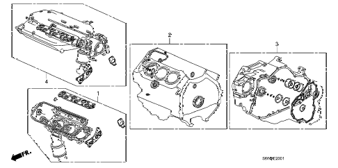 2007 accord EXV6 2 DOOR 6MT GASKET KIT (V6) diagram