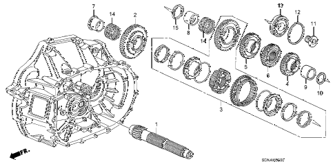 2007 accord LX 2 DOOR 5MT MT COUNTERSHAFT (KA/KL) (L4) diagram