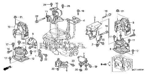 Honda Odyssey Engine Mount 2006 Mounts on 1994 Toyota Camry Motor Mount Diagram