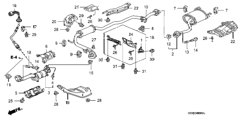 2007 fit SPORT 5 DOOR 5MT EXHAUST PIPE - MUFFLER diagram