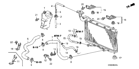 2008 fit BASE 5 DOOR 5MT RADIATOR HOSE - RESERVE TANK diagram