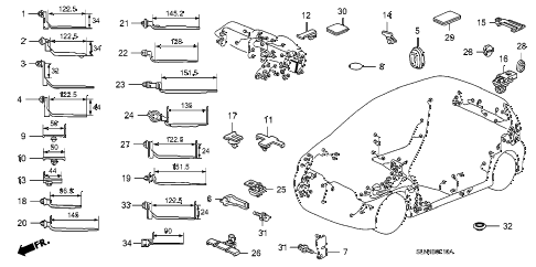 2008 fit BASE 5 DOOR 5MT HARNESS BAND - BRACKET diagram