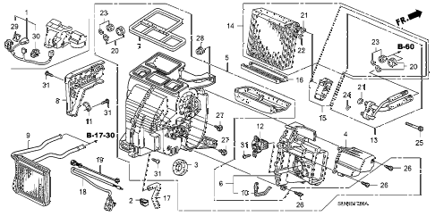 2007 fit SPORT 5 DOOR 5MT HEATER UNIT diagram