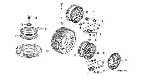 2008 fit BASE 5 DOOR 5MT WHEEL DISK (KA) diagram