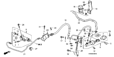 2007 fit SPORT 5 DOOR 5MT CLUTCH MASTER CYLINDER diagram