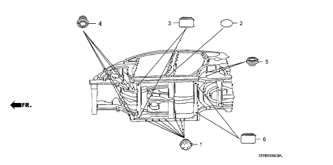 2007 fit SPORT 5 DOOR 5MT GROMMET (LOWER) diagram