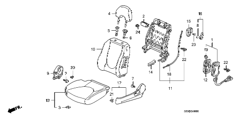 2008 fit BASE 5 DOOR 5MT FRONT SEAT (L.) diagram