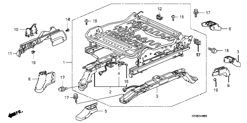 2007 fit SPORT 5 DOOR 5MT FRONT SEAT COMPONENTS (R.) diagram