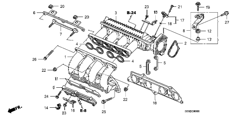2007 fit SPORT 5 DOOR 5MT INTAKE MANIFOLD diagram