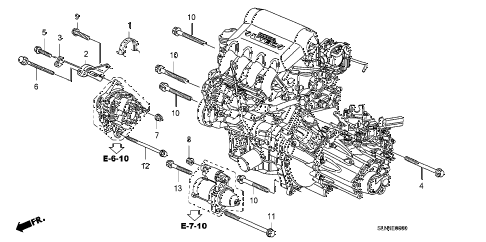 2008 fit BASE 5 DOOR 5MT ALTERNATOR BRACKET diagram