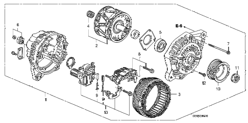 2007 fit SPORT 5 DOOR 5MT ALTERNATOR (MITSUBISHI) diagram