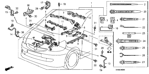 2008 fit BASE 5 DOOR 5MT ENGINE WIRE HARNESS diagram
