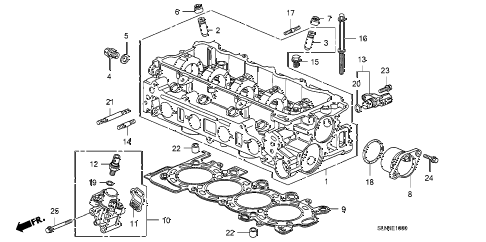 2007 fit SPORT 5 DOOR 5MT CYLINDER HEAD diagram