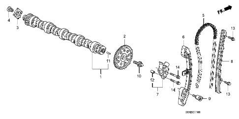 2007 fit SPORT 5 DOOR 5MT CAMSHAFT - CAM CHAIN diagram